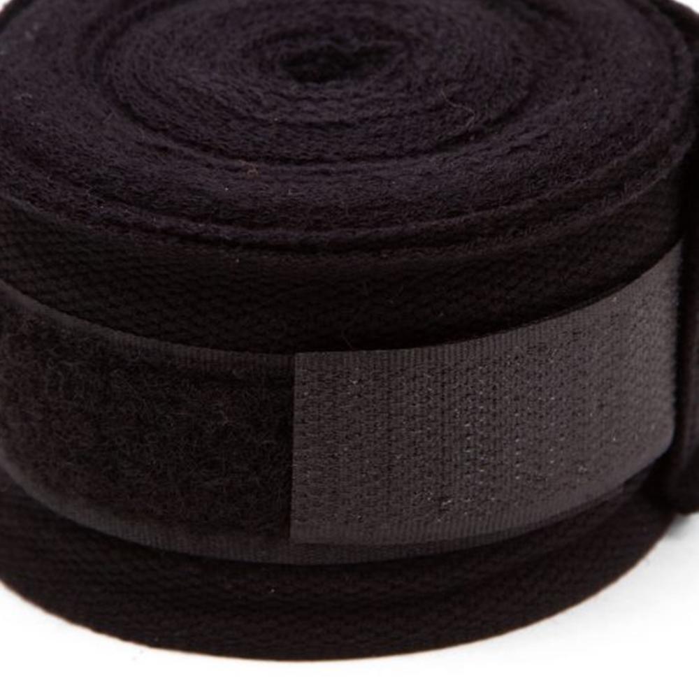 Bandagem Elástica Atadura Muay Thai 3Metros Preta – Vollo