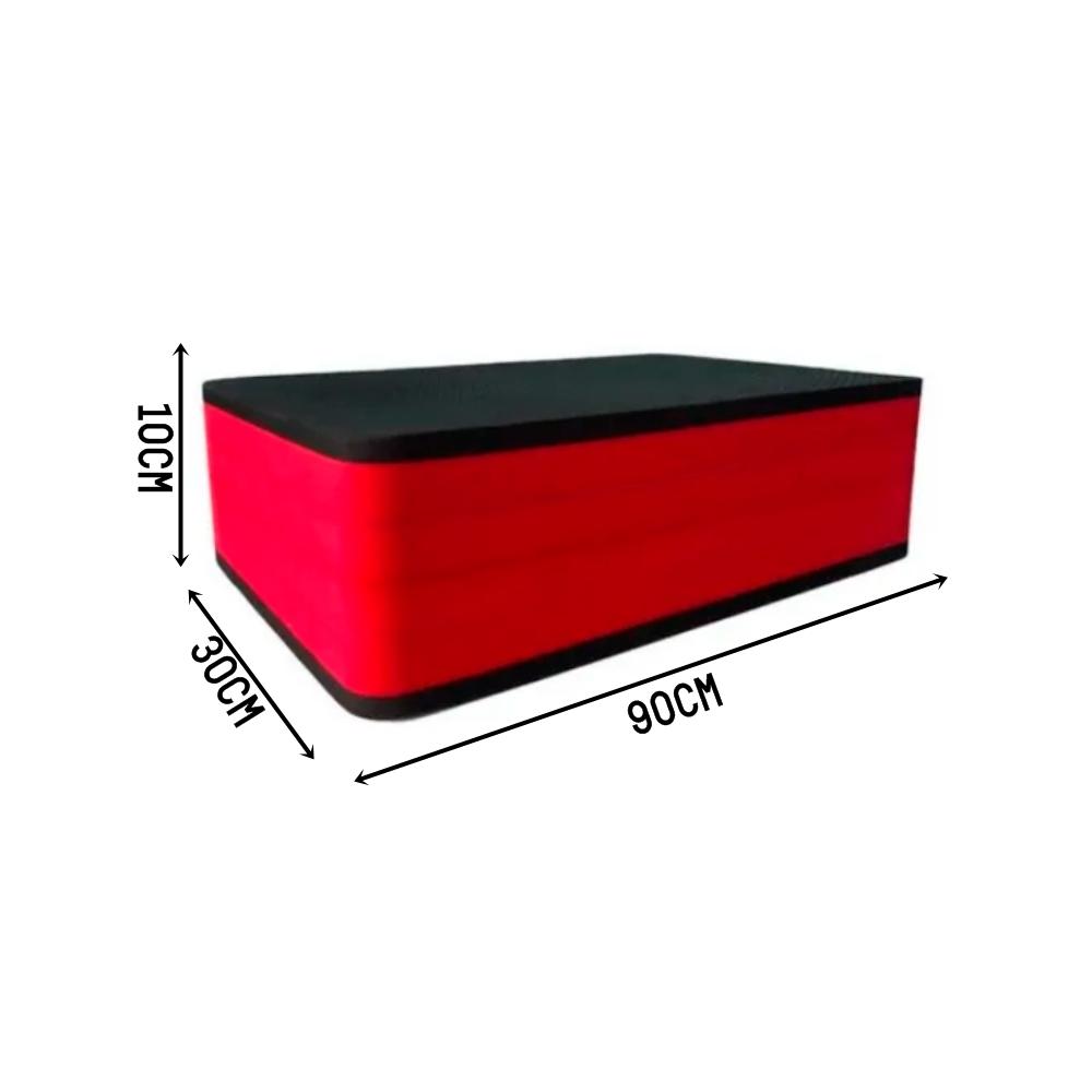 Step EVA Ginástica Aeróbica 90x30x14cm Vermelho e Preto