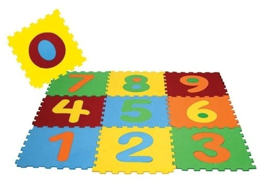 Kit Tapete Infantil Eva Alfanumérico 30x30cm – 36 Peças