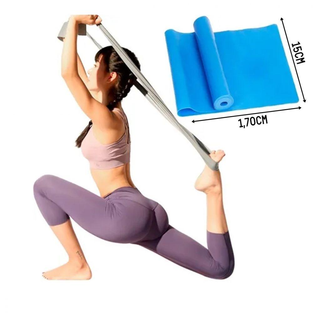 Faixa Elástica LIVEUP Nível Forte 1,70mts X 15cm Azul