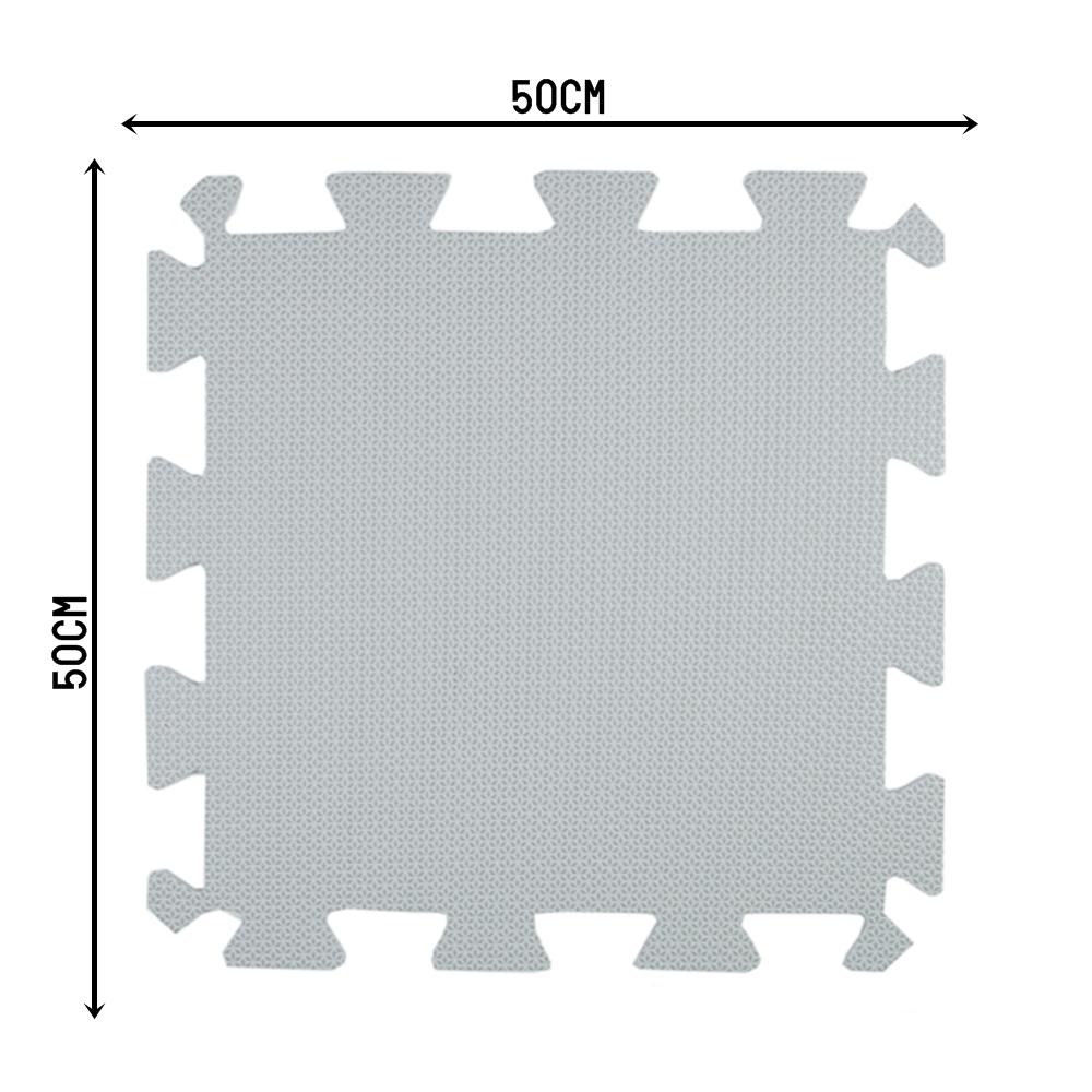 TATAME EVA 1,50X1 MT ESP 10MM PRETO/CINZA – 6 PLACAS 50X50CM