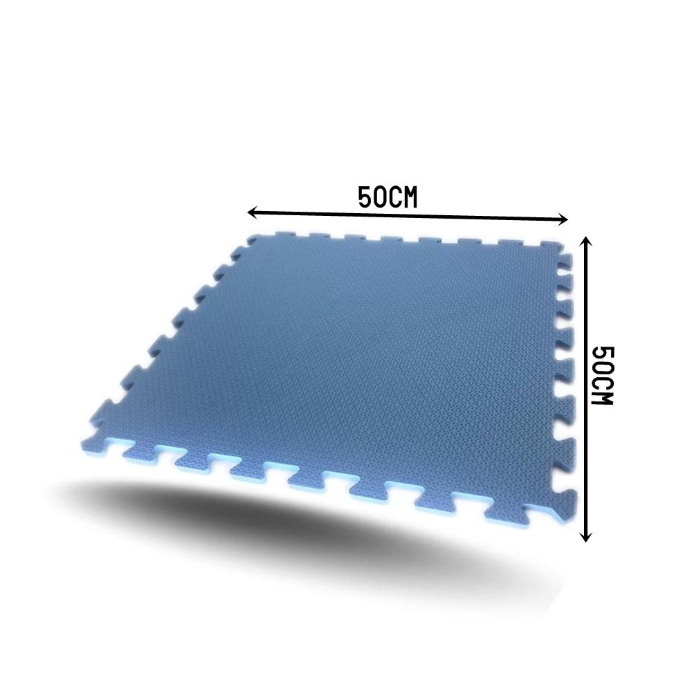 TATAME EVA 1,50X1 MT ESP 10MM AZUL – 6 PLACAS 50X50 CM