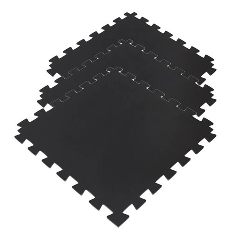 TATAME EVA 1,50X1 MT ESP 10MM PRETO – 6 PLACAS 50X50 CM