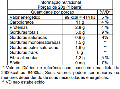 Barra Pinati Momentos Manhã Banana E Aveia CAIXA 60 UNID 20G