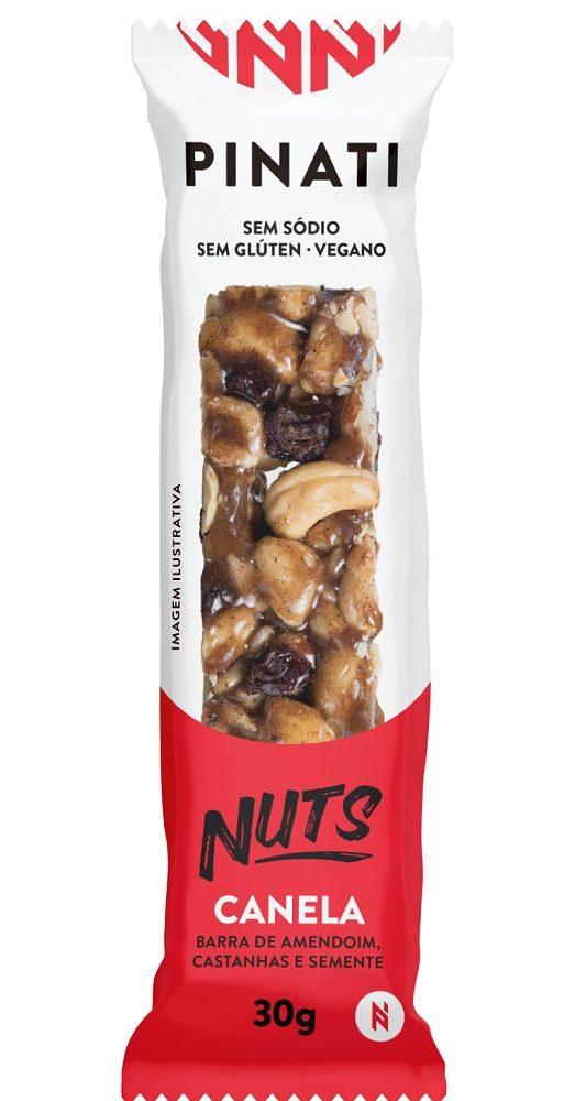 BARRA PINATI NUTS CANELA CAIXA 12 UNID DE 30G