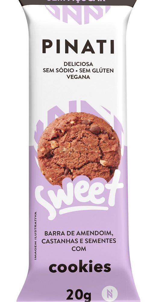 Barra Pinati Sweet sabor Cookies CAIXA 60 UNID 20G