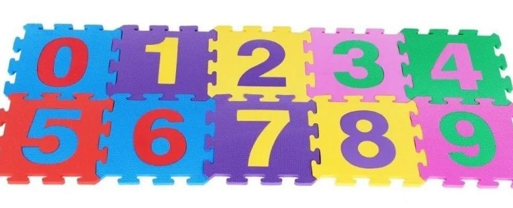 Tapete em EVA números 0 à 9