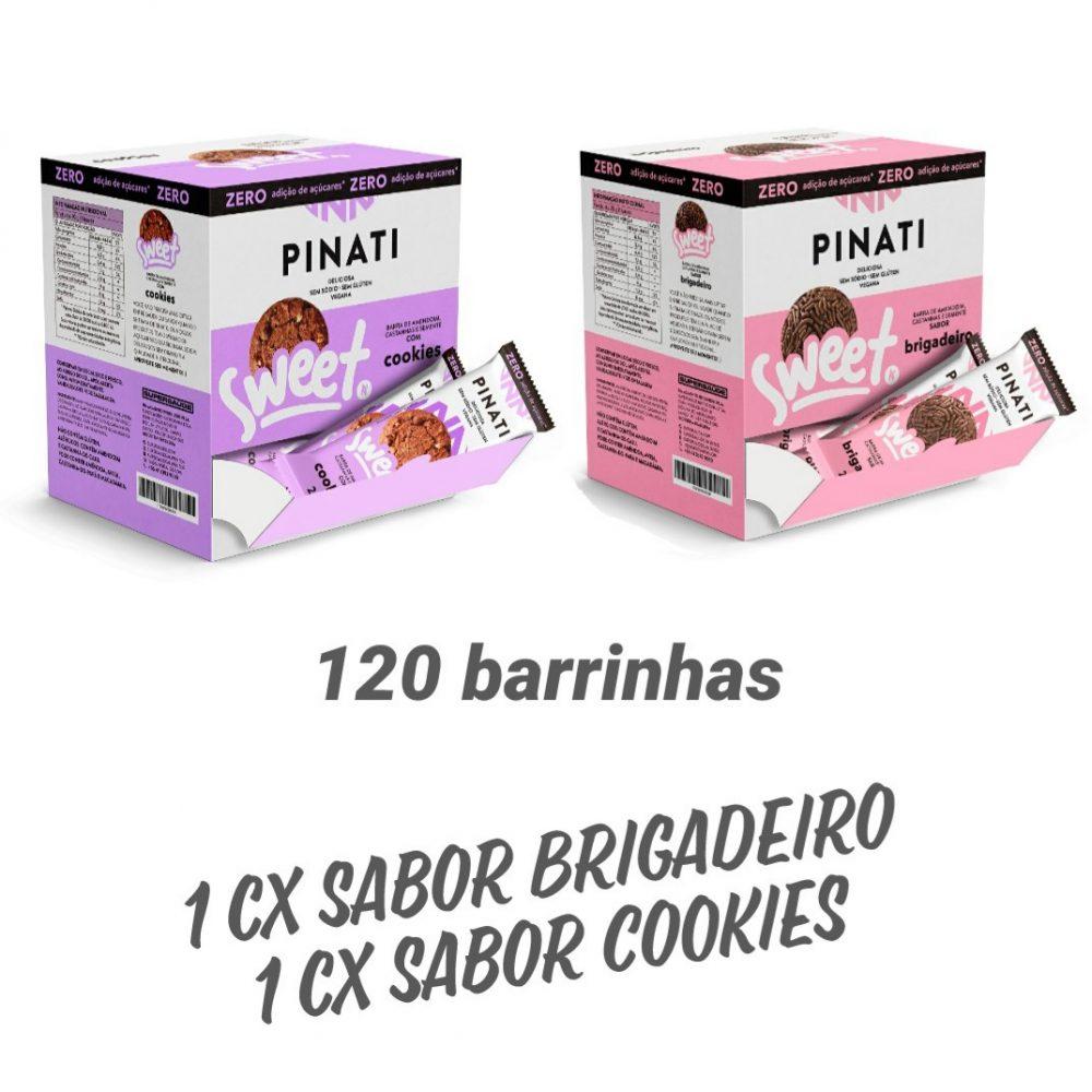 Kit 2 cxs  Pinati Sweet sabor Brigadeiro / Cookies CX 60 UNID cada x 20G