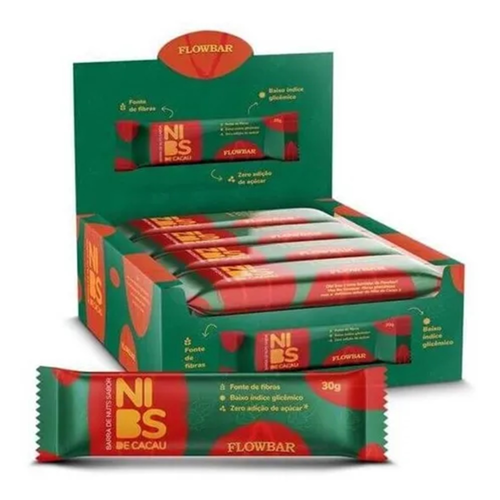 BARRA DE NUTS 70% CACAU 30G FLOWBAR CX C/12